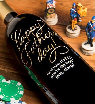 Personalized Beloved Happy Father's Day Wine