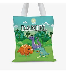 Dinosaur Personalized Kids Tote Bag