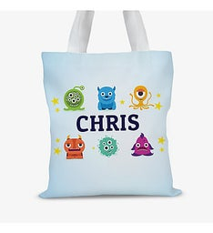 Little Monsters Personalized Kids Tote Bag