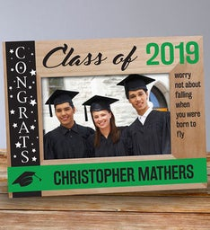 Engraved Congrats Class Of Wooden Picture Frame
