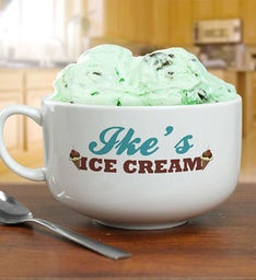 Personalized Ice Cream Bowl