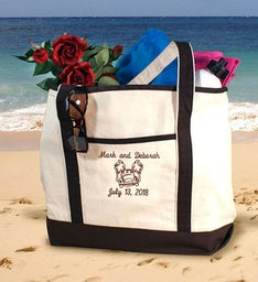 Personalized Honeymoon Beach Tote Bag