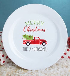 Personalized Merry Christmas Truck Plate