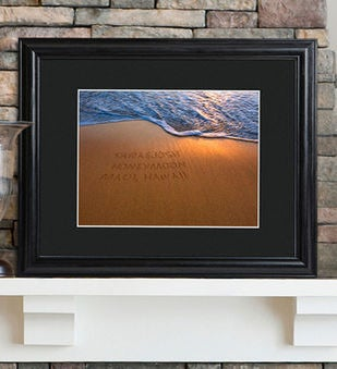 Personalized Sparkling Sands Sign W Wood Frame
