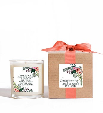 Personalized In Loving Memory Candle