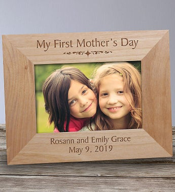 Personalized My First Mothers Day Wood Frame