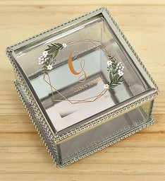 Personalized Initial Jewelry Box