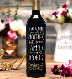 Worlds Greatest Mom Personalized Wine Bottle