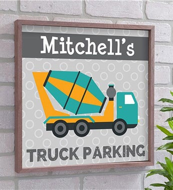 Personalized Truck Parking Wall Decor