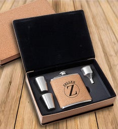 Personalized Cork Flask Gift Set