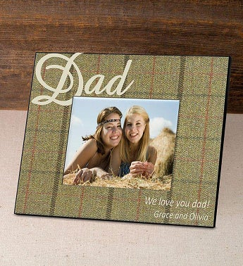 Personalized Tartan Picture Frame