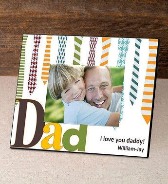 Personalized Ties Picture Frame