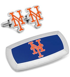 New York Mets Cufflinks and Cushion Money Clip