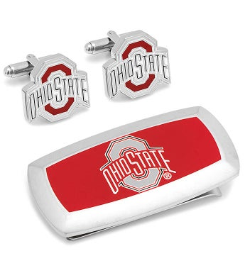 Ohio State University Cufflinks & Money Clip