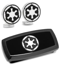 Imperial Cufflinks and Cushion Money Clip Gift Set