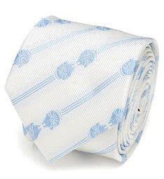 Millennium Falcon Mirror Stripe White Mens Tie