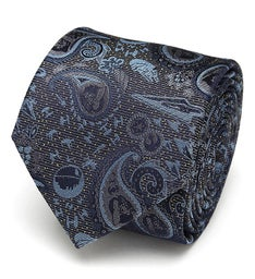 Vader Paisley Blue and Gray Mens Tie