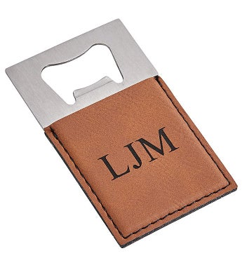 Personalized Leatherette Opener