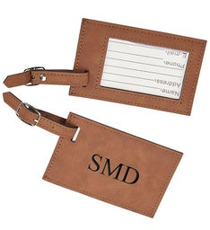 Personalized Leatherette Luggage Tag