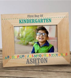 Personalized First Day of School Alphabet Frame
