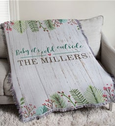 Personalized Baby Its Cold Outside Throw