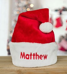 Personalized Embroidered Santa Hat