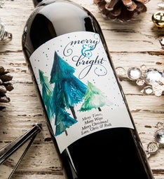 Merry  Bright Personalized Labeled Wine