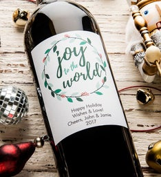 Joy To The World Personalized Labeled Wine
