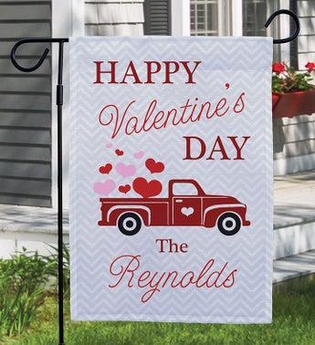Custom Happy Valentines Day Truck Garden Flag
