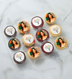 12-24 Mini Personalized Birthday Cupcakes