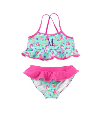 Personalized Mermaid Kisses Girls Swim Set