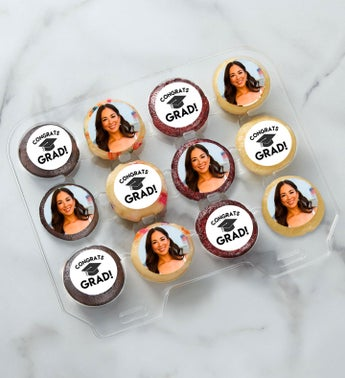 12-24 Mini Personalized Congratulations Cupcakes