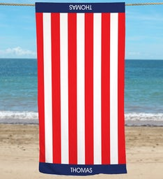 Personalized USA Pride Beach Towel
