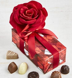 Divine Valentine Belgian Chocolate Rose Box