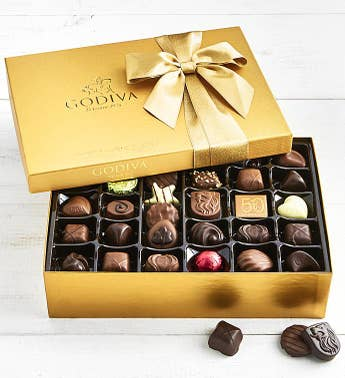 Godiva Gold Ballotin Chocolates Box