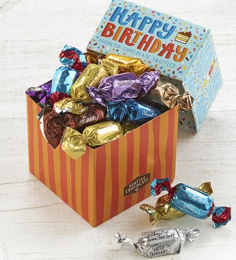 Seattle Chocolates® Happy Birthday Truffles Box