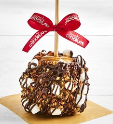 Simply Chocolate Rocky Road Caramel Apple