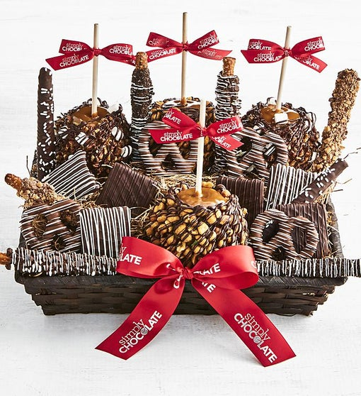 Simply Chocolate Deluxe Sumptuous Snack Basket