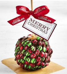 Simply Chocolate Christmas Chocolate Candy Apple