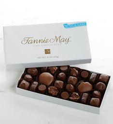 Fannie May No Sugar Added Asst Chocolates - 1 LB