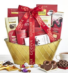 Godiva Valentine Chocolates Basket - Supreme