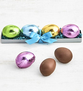 Art CoCo Large Foil Wrapped Milk Chocolate Eggs