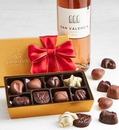 Godiva 8pc Ballotin with Ros Wine