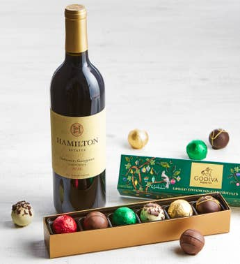 Godiva Ltd Ed Holiday Truffles Box  Cabernet Wine