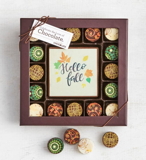 Simply Chocolate Hello Fall! Bar & Truffles 17pc