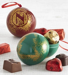 Neuhaus Praline Filled Holiday Ornaments set of 2