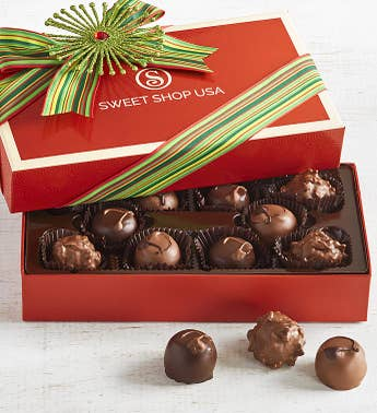 The Sweet Shop Holiday Fudge Love Truffles 10pc
