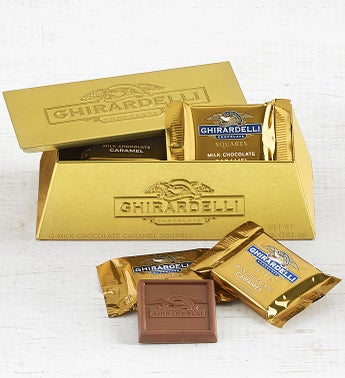 Ghirardelli Gold Bullion Bar Box