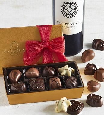 Godiva Valentine's Day 8pc Ballotin with Merlot