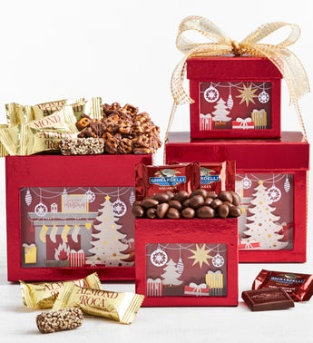 Winter Wonder Chocolates & Sweets Tower